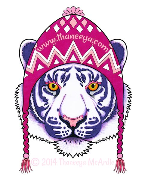 Dapper Animals Coloring Book Tiger by Thaneeya