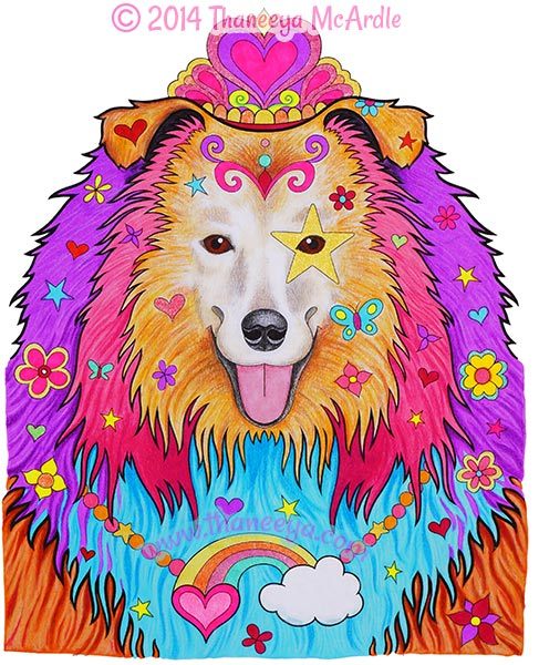 Dapper Animals Coloring Book Dog by Thaneeya