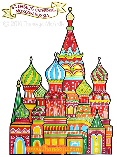 World Traveler Coloring Page Russia by Thaneeya