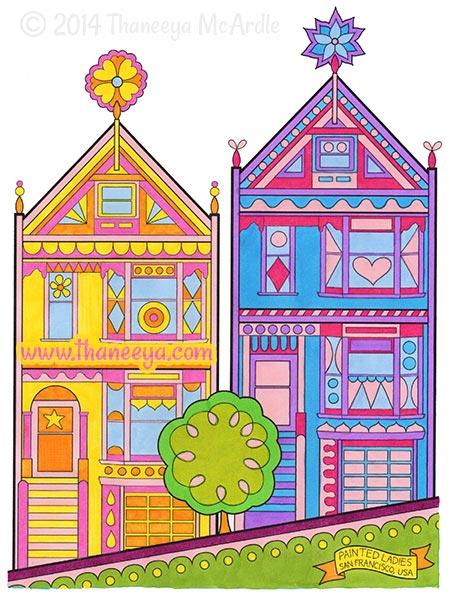 World Traveler Coloring Book San Francisco by Thaneeya