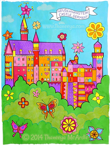 World Traveler Coloring Book Castle by Thaneeya