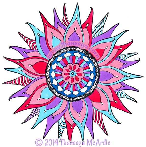 Nature Mandala Coloring Page by Thaneeya McArdle