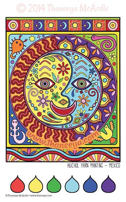 Color Dreams Coloring Book Page by Thaneeya McArdle
