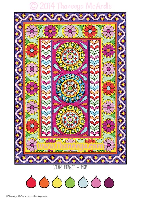 Fun and Funky Coloring Book Page by Thaneeya