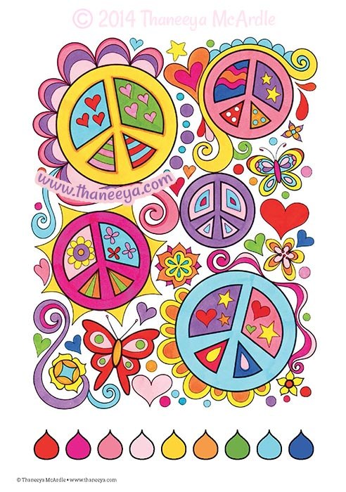 Fun and Funky Coloring Page by Thaneeya