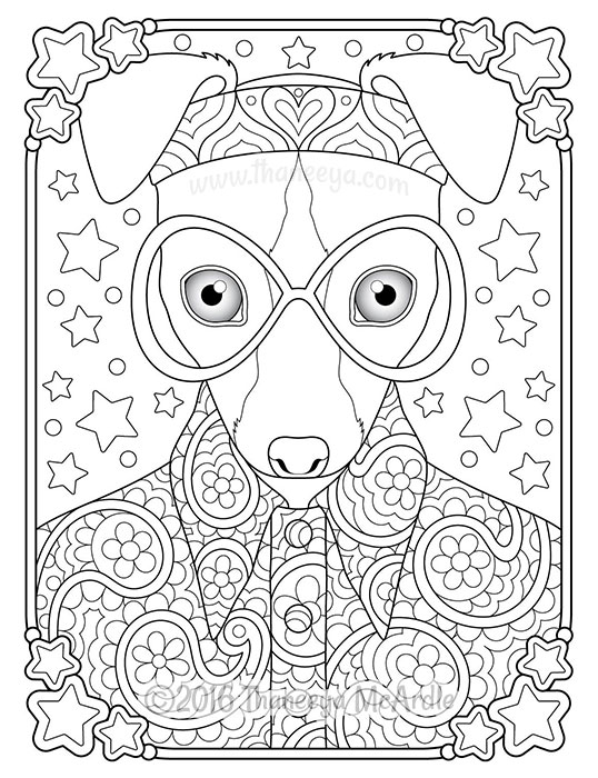 - Hippie Animals Coloring Book By Thaneeya McArdle — Thaneeya.com