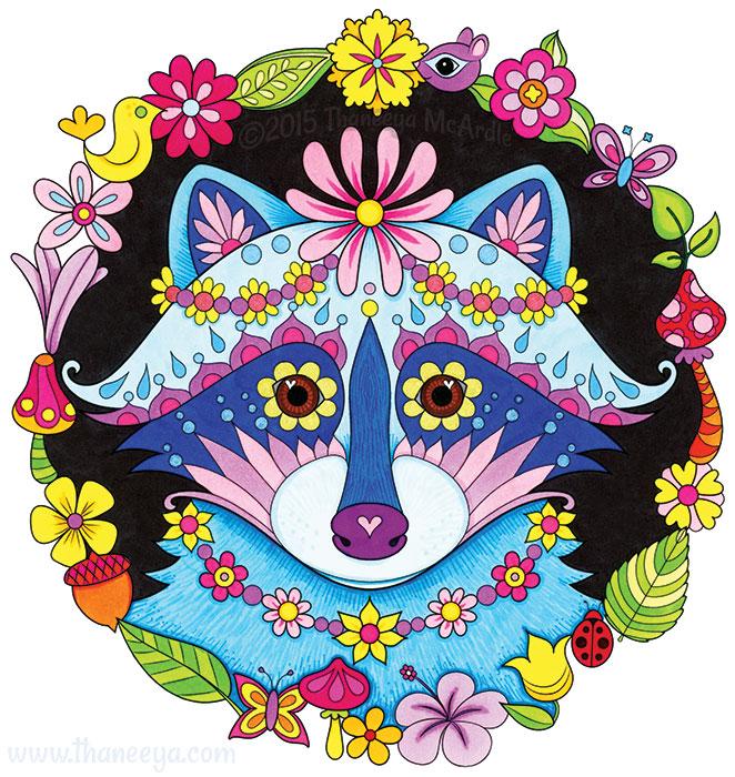 Boho Raccoon by Thaneeya McArdle