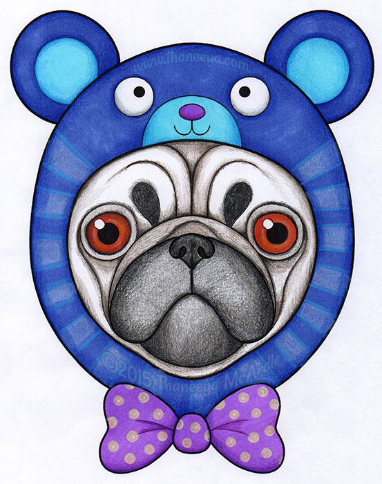 Hipster Pug by Thaneeya McArdle