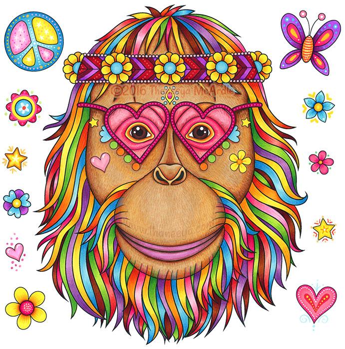 Hippie Orangutan by Thaneeya McArdle
