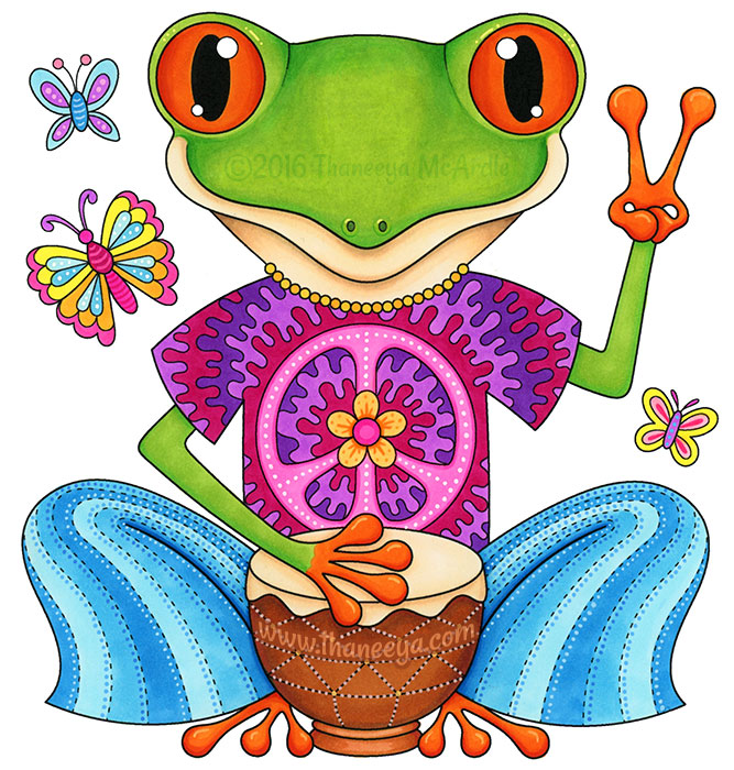 Peace Frog by Thaneeya McArdle