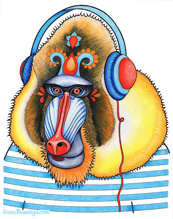 Lionel the Chill Mandrill by Thaneeya McArdle