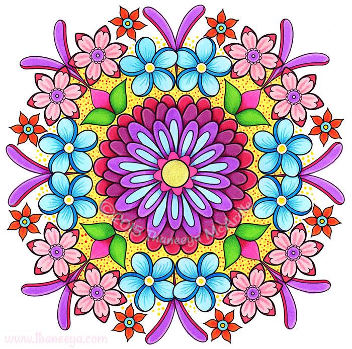 Flower Mandala 3 by Thaneeya McArdle