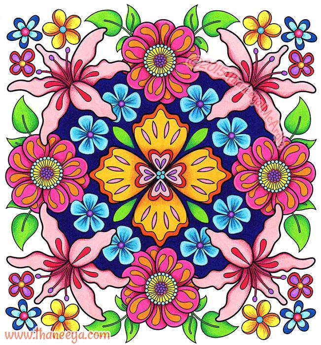 Flower Mandala 2 by Thaneeya McArdle