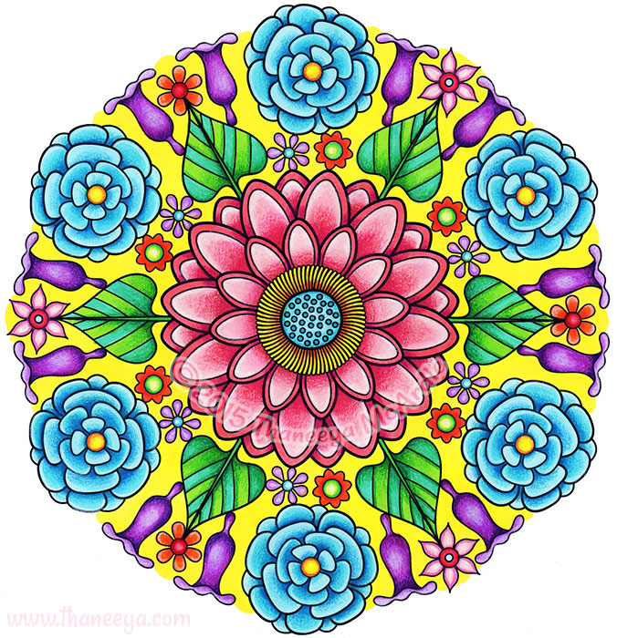 Flower Mandala 1 by Thaneeya McArdle