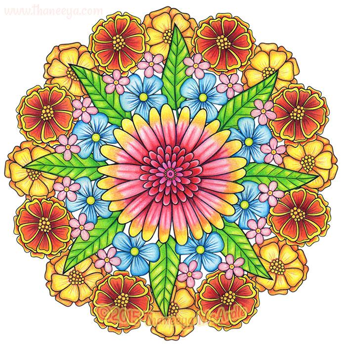 Flower Mandala 5 by Thaneeya McArdle