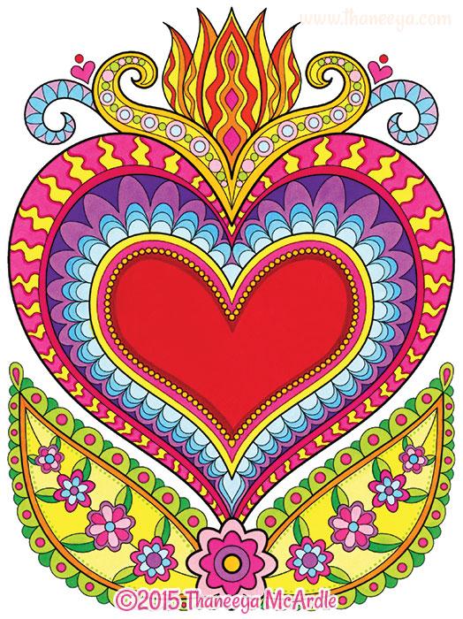 Flaming Heart by Thaneeya McArdle