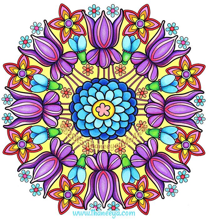 Flower Mandala by Thaneeya McArdle