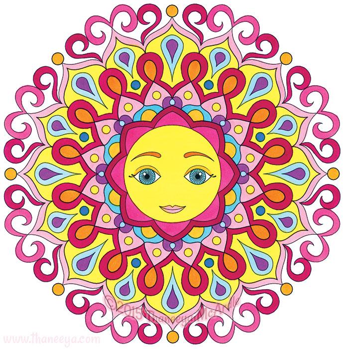 Whimsical Mandala by Thaneeya McArdle