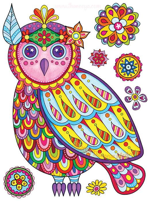 Boho Owl by Thaneeya McArdle
