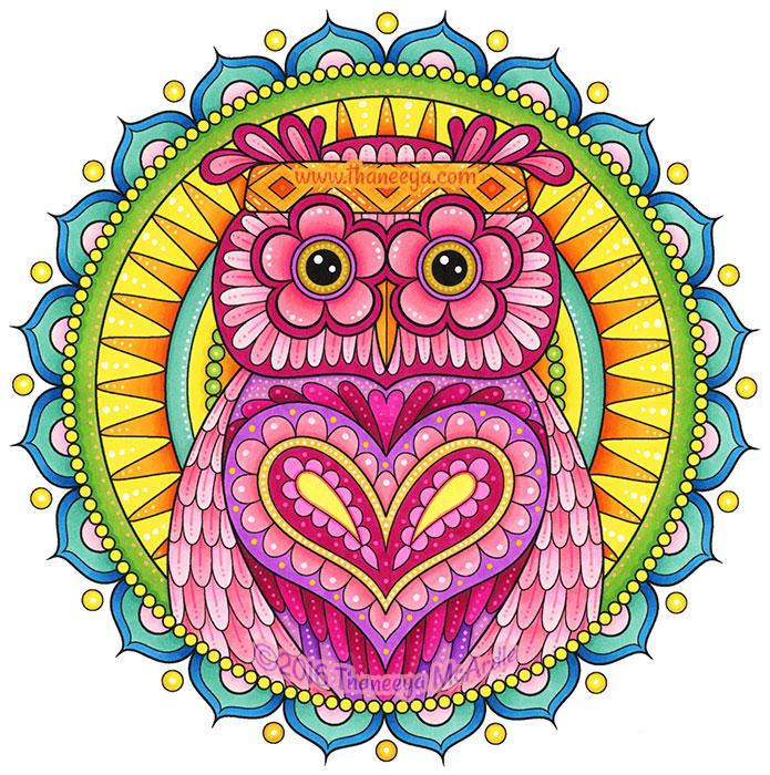 Owl Mandala by Thaneeya McArdle