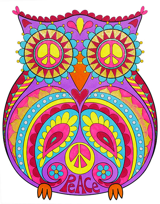Peace Owl by Thaneeya McArdle