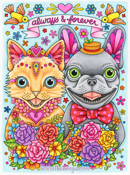 Always and Forever Coloring Page by Thaneeya McArdle