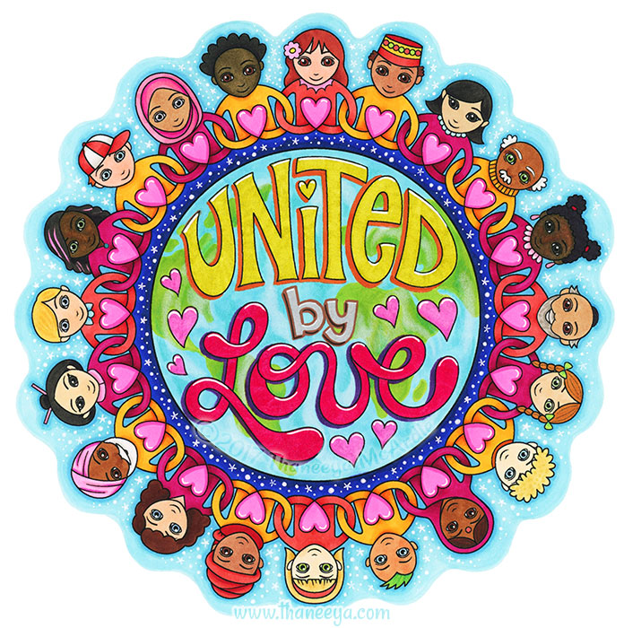 United by Love Coloring Page by Thaneeya McArdle