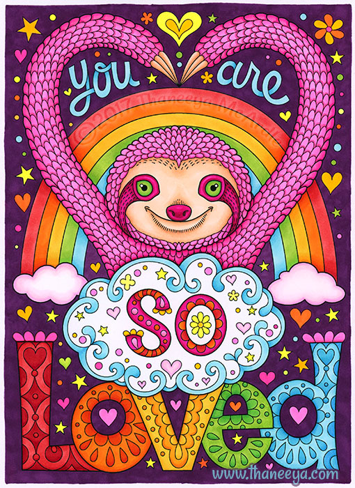 You Are So Loved Coloring Page by Thaneeya McArdle