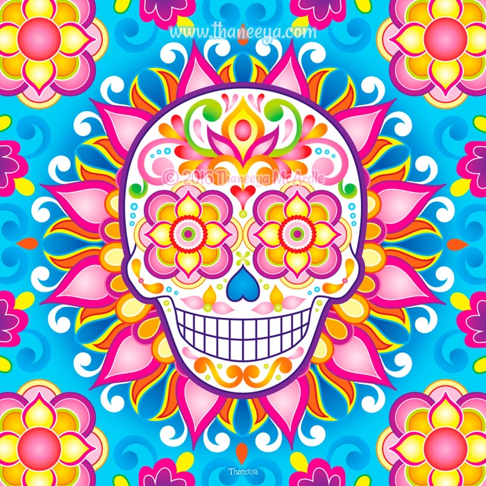 Liminal Sugar Skull by Thaneeya McArdle