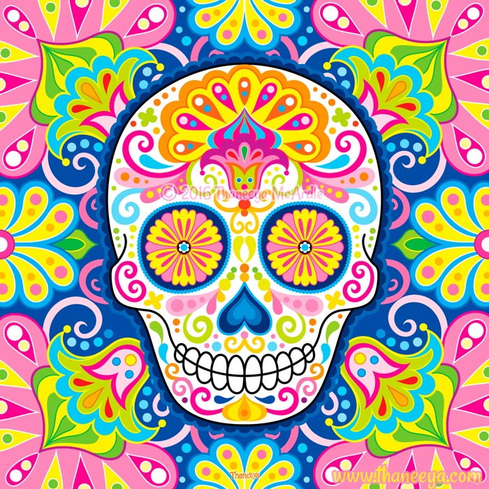 Efflorescent Sugar Skull by Thaneeya McArdle