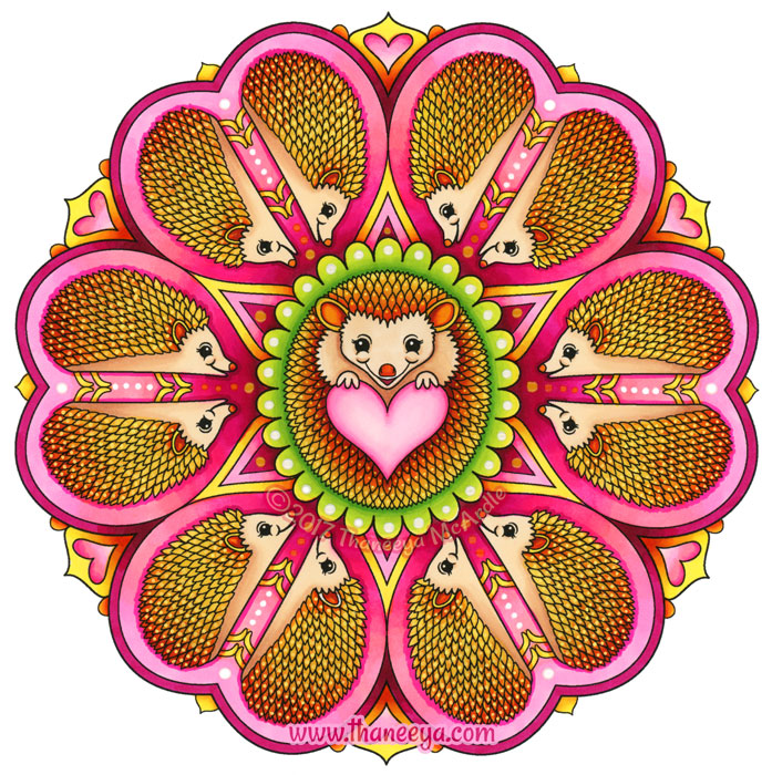 Hedgehog Mandala by Thaneeya McArdle