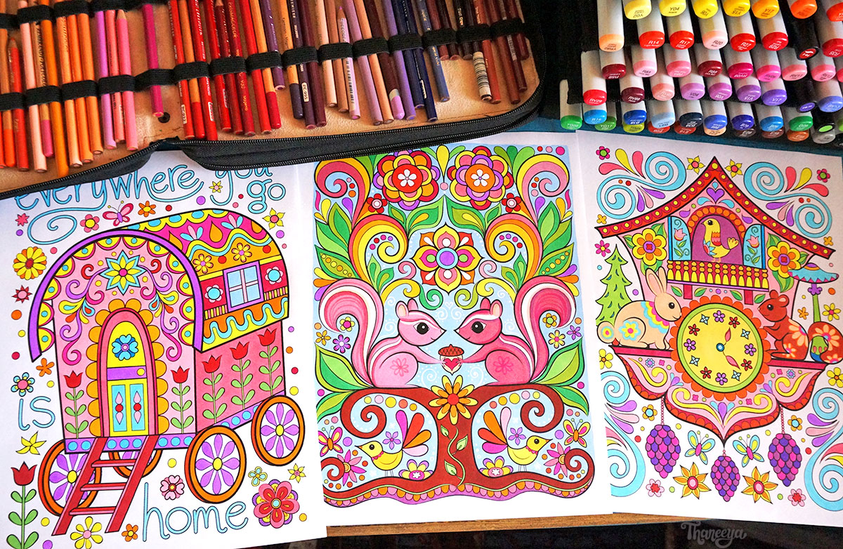 Art from Happy Campers Coloring Book by Thaneeya McArdle