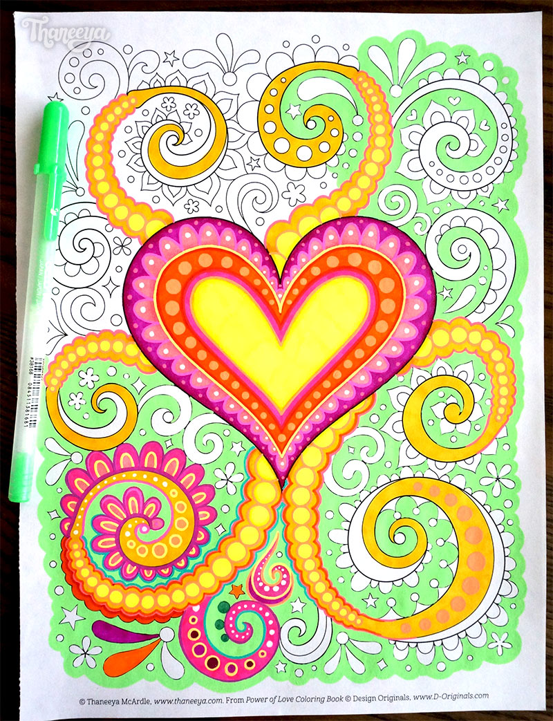 Heart Coloring Page from Thaneeya McArdle's Power of Love Coloring Book