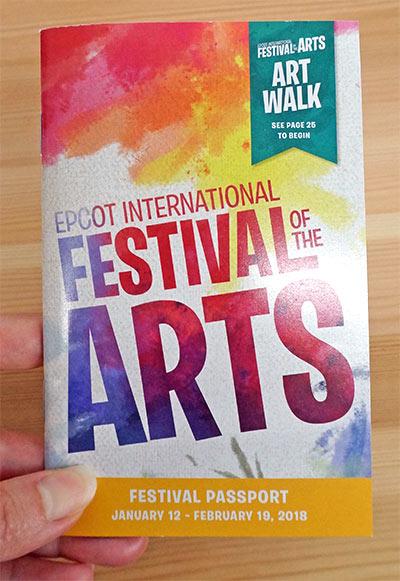 2018 Epcot International Festival of the Arts Passport