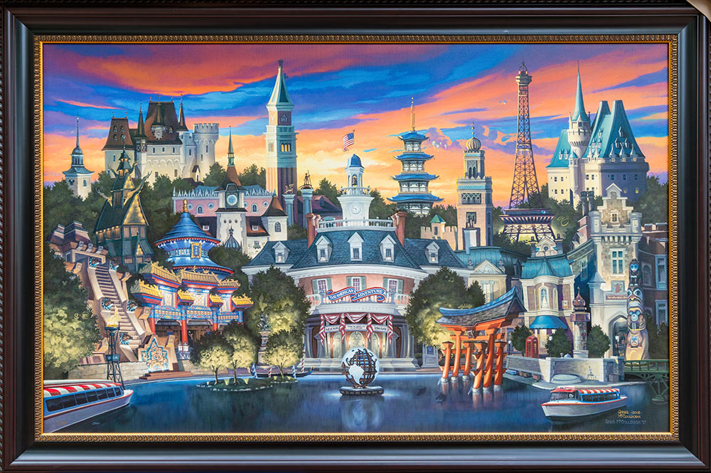 Painting of Epcot's World Showcase by Greg McCullough for Epcot's 2018 International Festival of the Arts