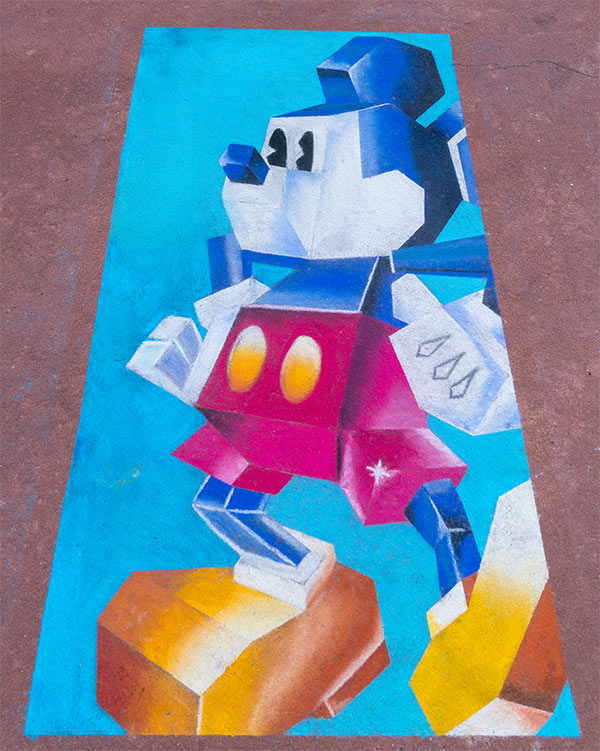 Chalk drawing at Epcot's 2018 International Festival of the Arts