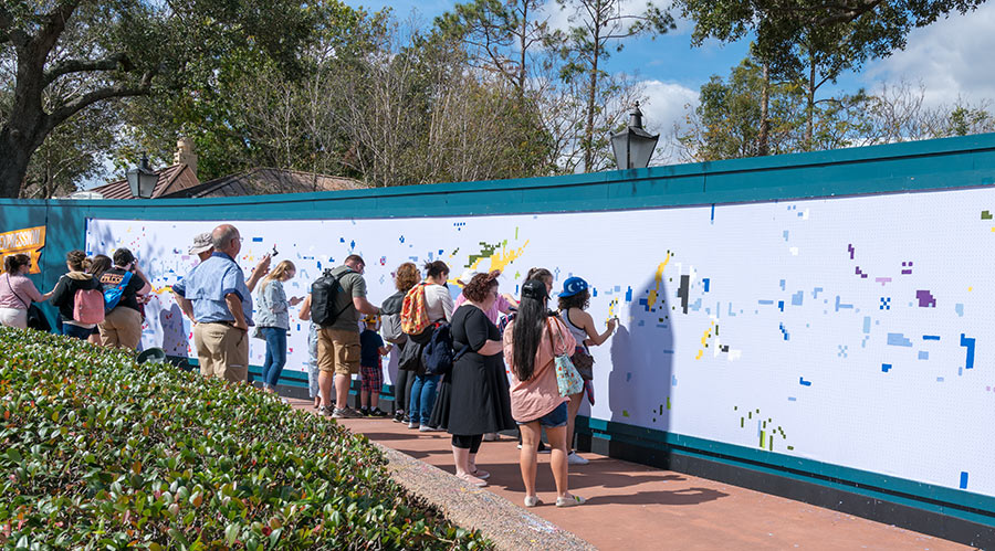 """""""Expression Section"""": Large interactive paint-by-number mural at Epcot's 2018 International Festival of the Arts"""