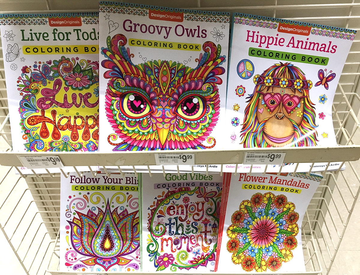Thaneeya McArdle coloring books in Michaels
