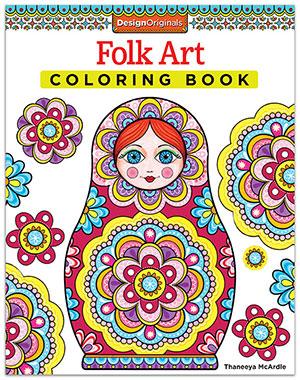 Folk Art Coloring Book by Thaneeya McArdle
