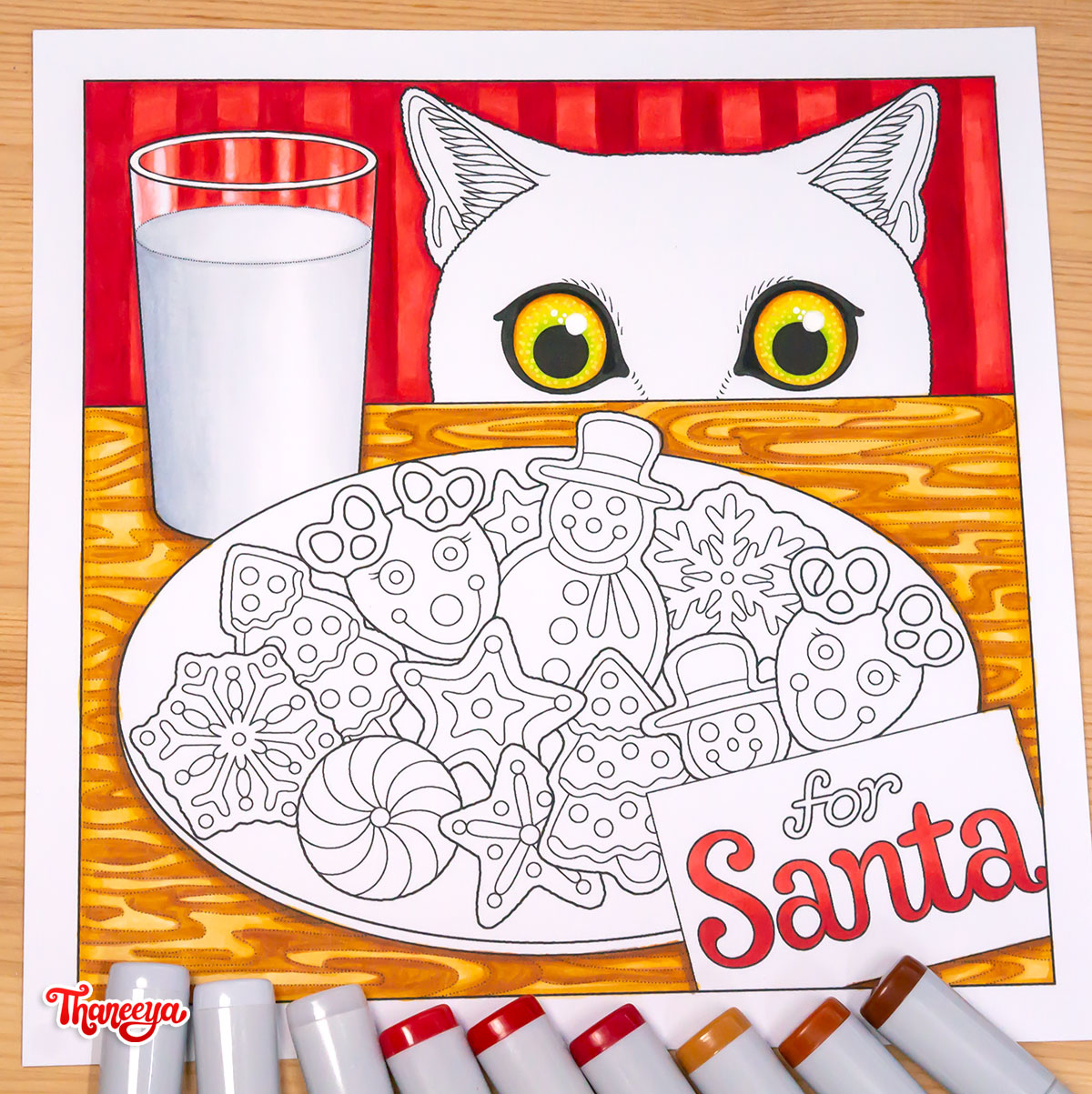 Cookies for Santa coloring page from Thaneeya McArdle's Holiday Cheer Coloring Book