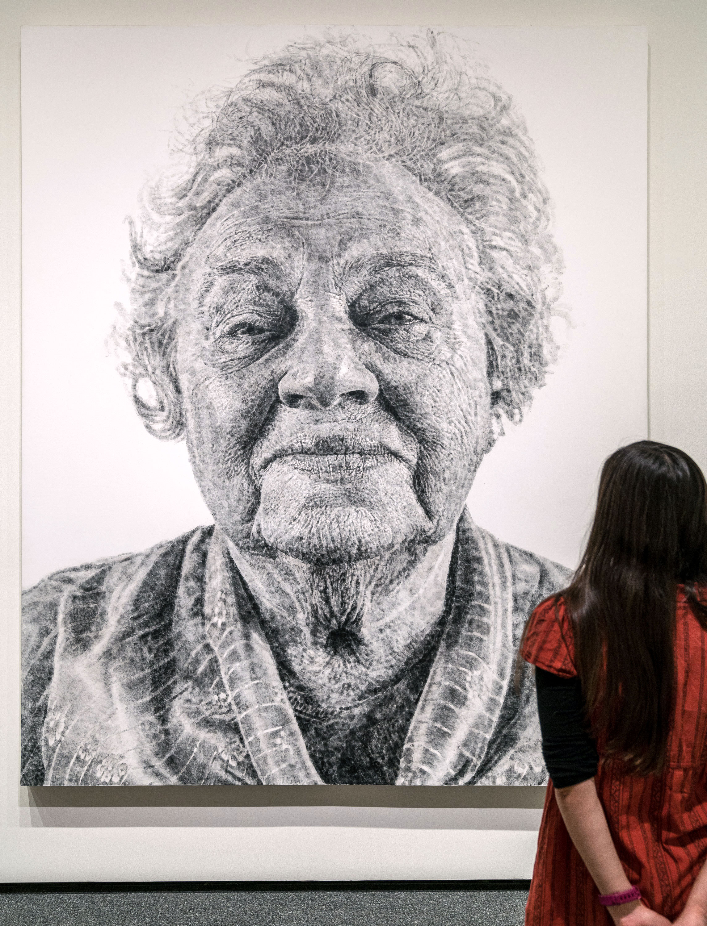 Fanny/Fingerpainting by Chuck Close in the National Gallery of Art, Washington, DC.