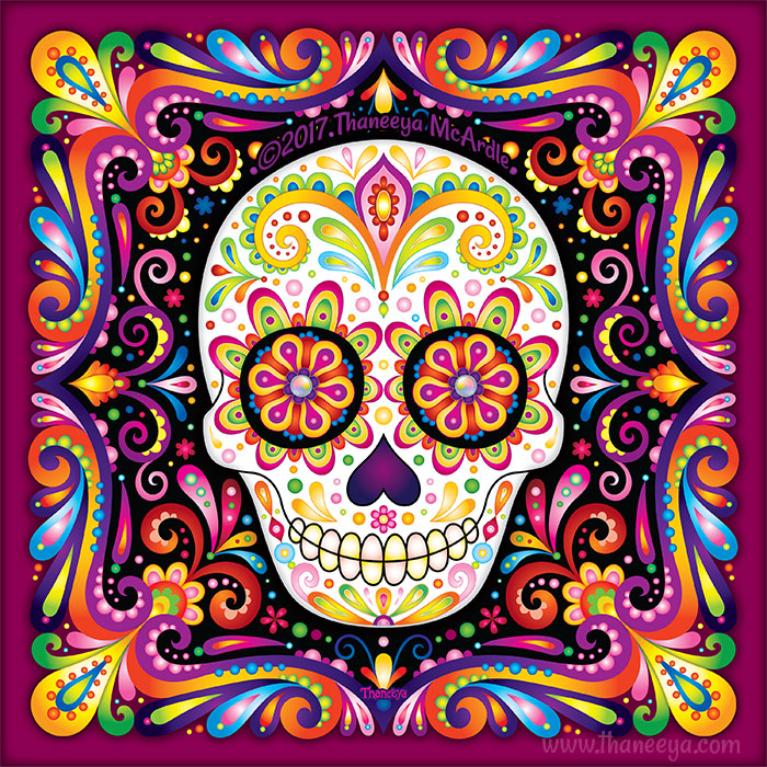 Lumia Sugar Skull Art by Thaneeya McArdle
