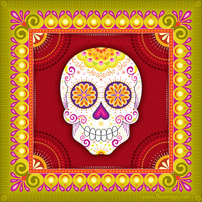 Gano Sugar Skull Art by Thaneeya McArdle