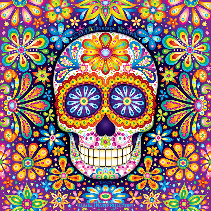 Sugar Skull Art by Thaneeya McArdle (Infinite)