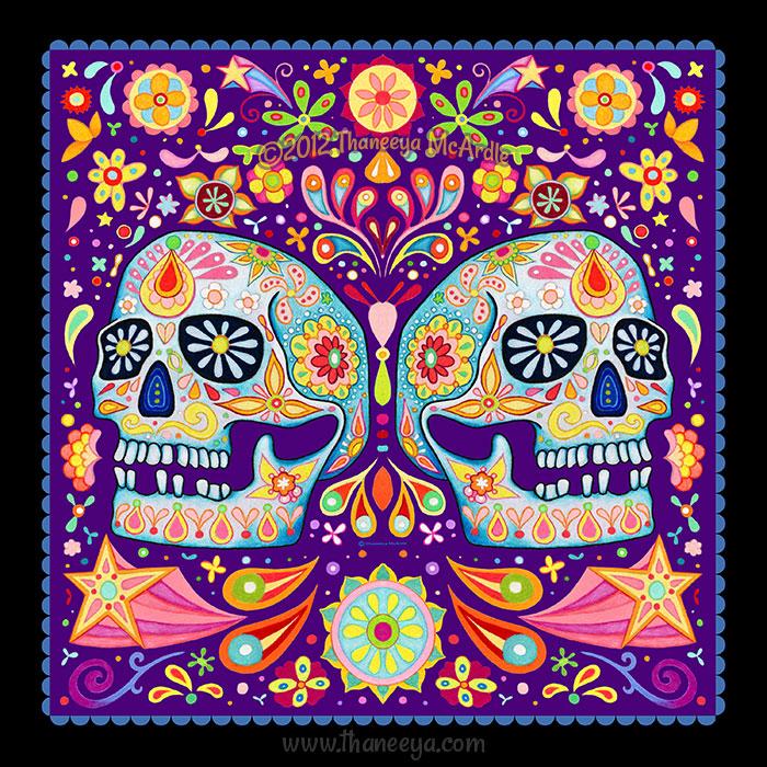 Day of the Dead Skull Odalis by Thaneeya