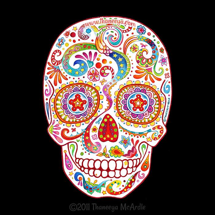 Psychedelic Sugar Skull 2011 by Thaneeya