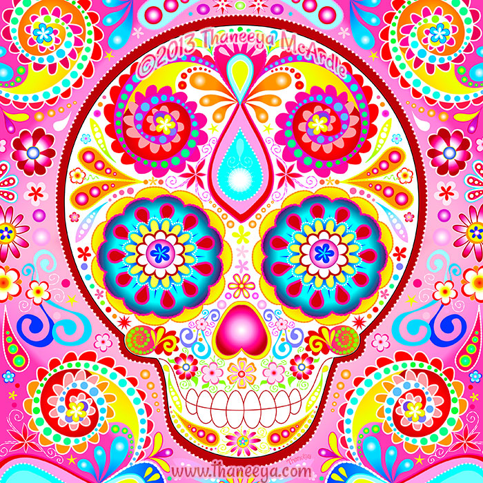 Desi Sugar Skull Art by Thaneeya McArdle
