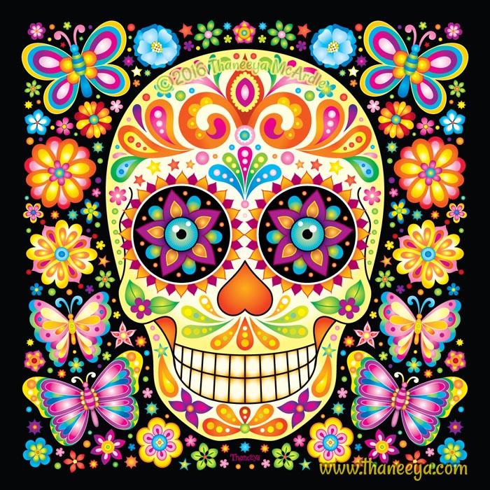 Fiesta Sugar Skull by Thaneeya McArdle