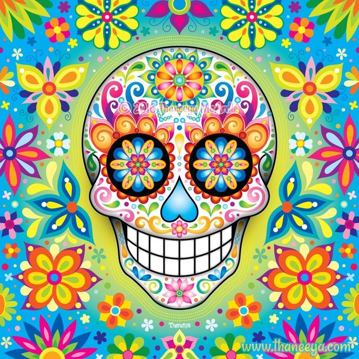 Jubilee Sugar Skull by Thaneeya McArdle