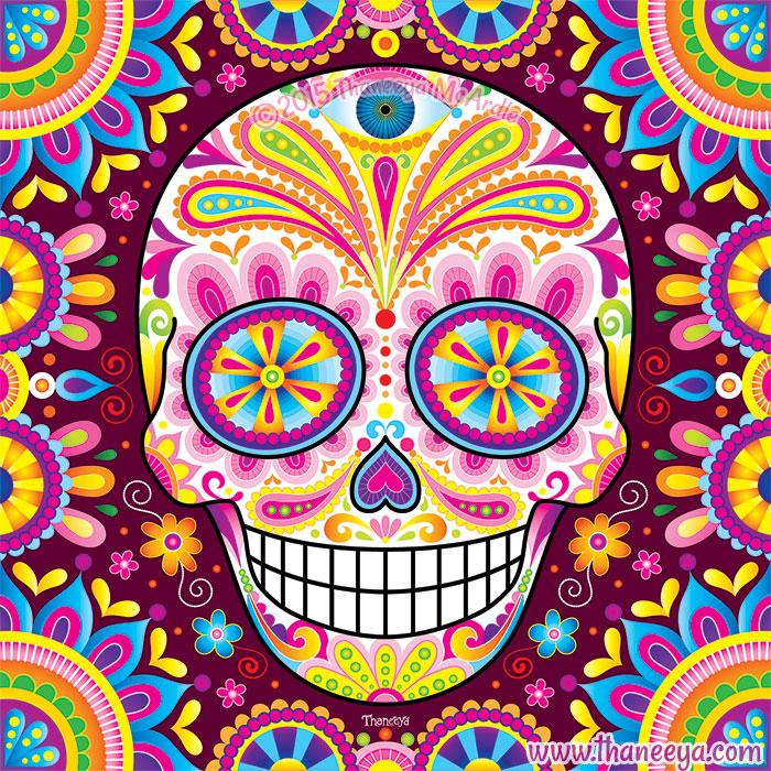 Colorful Sugar Skull Spright by Thaneeya